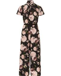 Erdem - Ellamay Belted Floral-print Silk Crepe De Chine Jumpsuit - Lyst