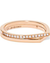Repossi - Antifer 18-karat Rose Gold Diamond Ring - Lyst
