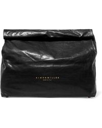 Simon Miller - Lunchbag 30 Crinkled-leather Clutch - Lyst