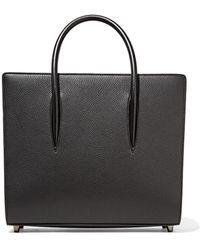 Christian Louboutin - Paloma Medium Spiked Textured, Smooth And Patent-leather Tote - Lyst