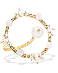 Anissa Kermiche - Orbite 18-karat Gold, Diamond And Pearl Ring - Lyst