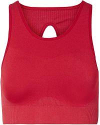 Nike - Seamless Cutout Stretch Sports Bra - Lyst