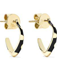 Alice Cicolini - Memphis 14-karat Gold Enamel Hoop Earrings - Lyst