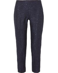 Lela Rose - Pantalon Droit En Tweed À Sequins - Lyst