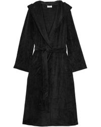DKNY - Elevated Leisure Velour Robe - Lyst