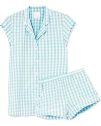 Three J Nyc - Olivia Printed Cotton-voile Pajama Set - Lyst