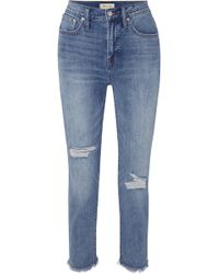 Madewell - The Perfect Vintage High-rise Straight-leg Jeans - Lyst