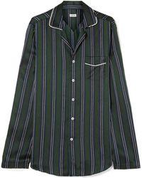 Loewe - Striped Silk-charmeuse Shirt - Lyst