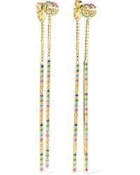 Gucci - 18-karat Gold Multi-stone Earrings - Lyst