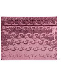 Christian Louboutin - Kios Embossed Metallic Leather Cardholder - Lyst