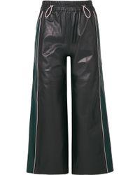 Mira Mikati - Cropped Leather Wide-leg Pants - Lyst