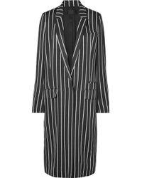 Haider Ackermann - Striped Matte-satin Coat - Lyst
