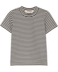 Junya Watanabe - Striped Cotton-jersey T-shirt - Lyst