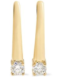 Melissa Kaye - Aria 18-karat Gold Diamond Earrings - Lyst