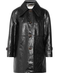 Chloé | Crinkled Glossed-leather Coat | Lyst