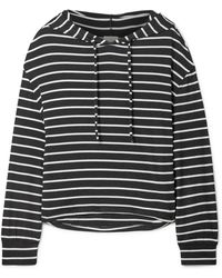 Eberjey - Hooded Striped Jersey Pajama Top - Lyst