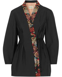Etro - Sequin-embellished Satin Wrap Jacket - Lyst