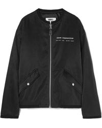 MM6 by Maison Martin Margiela - Printed Satin Bomber Jacket - Lyst