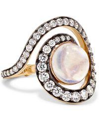Noor Fares | Spiral Planet 18-karat Gold Multi-stone Ring | Lyst