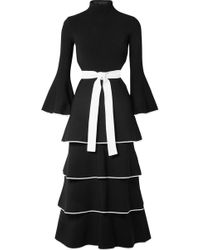 Proenza Schouler - Open-back Tiered Stretch-cady Gown - Lyst
