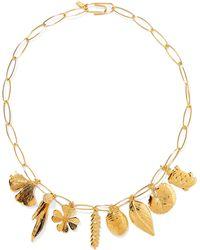 Aurelie Bidermann   Aurélie Gold-plated Charm Necklace   Lyst