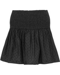 Marysia Swim - Lahaina Smocked Flocked Cotton Mini Skirt - Lyst