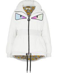 Fendi - Appliquéd Quilted Down Jacket - Lyst