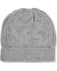 Johnstons - Cable-knit Cashmere Beanie - Lyst