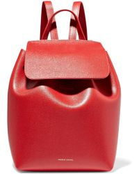 Mansur Gavriel - Mini Textured-leather Backpack - Lyst