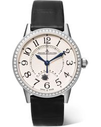 Jaeger-lecoultre - Rendez-vous Night & Day 29mm Stainless Steel, Alligator And Diamond Watch - Lyst