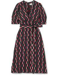 Cefinn - Printed Satin Midi Dress - Lyst