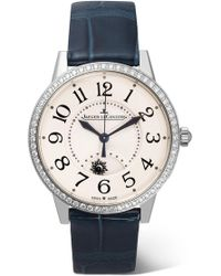 Jaeger-lecoultre - Rendez-vous Night & Day 34mm Stainless Steel, Diamond And Alligator Watch - Lyst