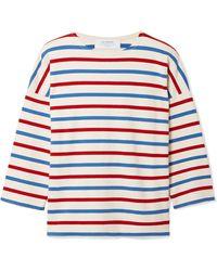 La Ligne - Us Navy Striped Cotton-jersey Top - Lyst