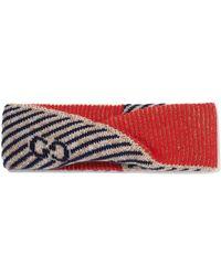 Gucci - Metallic Intarsia Wool-blend Headband - Lyst