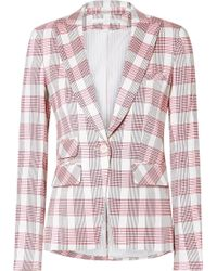 Veronica Beard - Khan Checked Canvas Blazer - Lyst