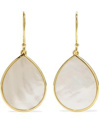 Ippolita - Polished Rock Candy 18-karat Gold Mother-of-pearl Earrings - Lyst