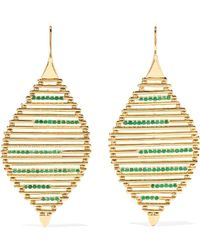 Ileana Makri - Grass Seed 18-karat Gold Emerald Earrings Gold One Size - Lyst