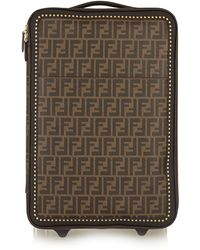 Fendi   Printed Faux Textured-leather Travel Trolley   Lyst