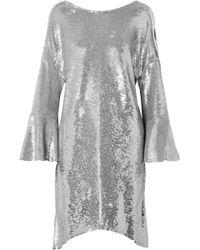 IRO - Napa Asymmetric Sequined Cotton Mini Dress - Lyst