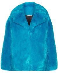 Diane von Furstenberg - Oversized Faux Fur Coat - Lyst