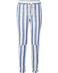 lemlem - Abel Patch Striped Cotton-blend Pants - Lyst