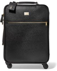 Dolce & Gabbana - Sicily Carry-on Textured-leather Suitcase - Lyst