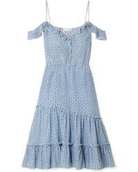 Altuzarra - Friday Cold-shoulder Floral-print Silk-georgette Dress - Lyst