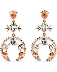 Marlo Laz - Squash Blossom 14-karat Rose Gold Multi-stone Earrings Rose Gold One Size - Lyst