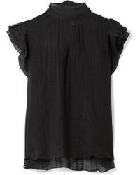 Ulla Johnson - Heddy Embroidered Silk-georgette Top - Lyst