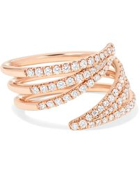 Melissa Kaye | Cristina 18-karat Rose Gold Diamond Ring | Lyst