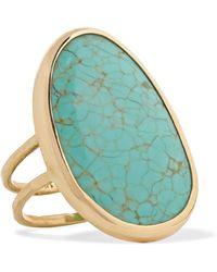 Melissa Joy Manning - 14-karat Gold Turquoise Ring - Lyst