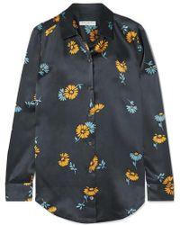f4419c2b999225 J.Crew Printed Silk-twill Shirt in Blue - Lyst