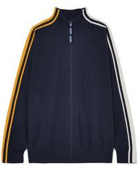 SJYP - Striped Knitted Track Jacket - Lyst