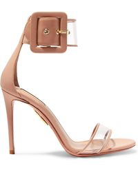 Seduction Pvc And Leather Sandals - Neutral Aquazzura zMAuUR
